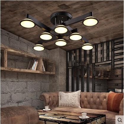 modern minimalist black iron ceiling light living room bedroom light 110-240Vmodern minimalist black iron ceiling light living room bedroom light 110-240V