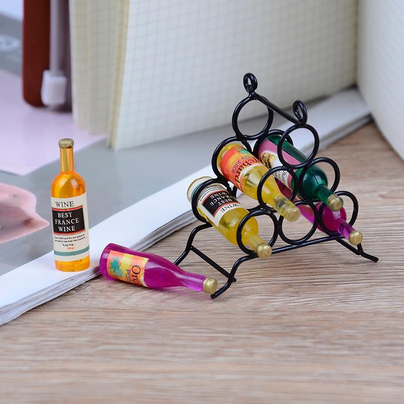 Doll House miniature furniture DIYkitchenroom 1:12 /& mini wine rack bottle se
