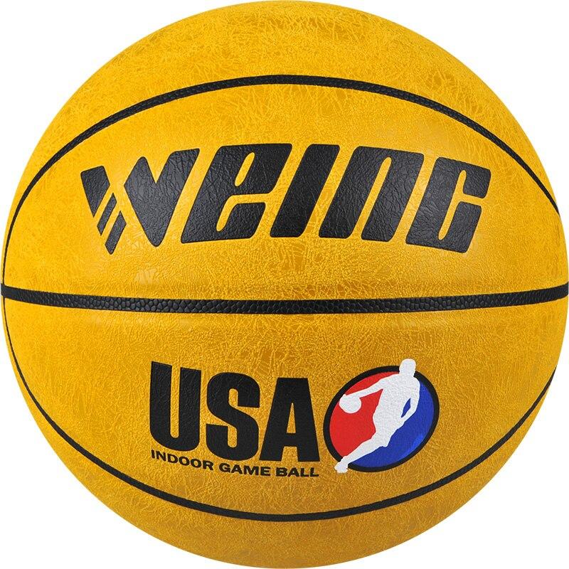WEING 421 taille 7 PU Basket-Ball avec sac en maille et aiguille à gaz balles antidérapantes résistant à l'usure panier d'entraînement balle Bola De Basquete