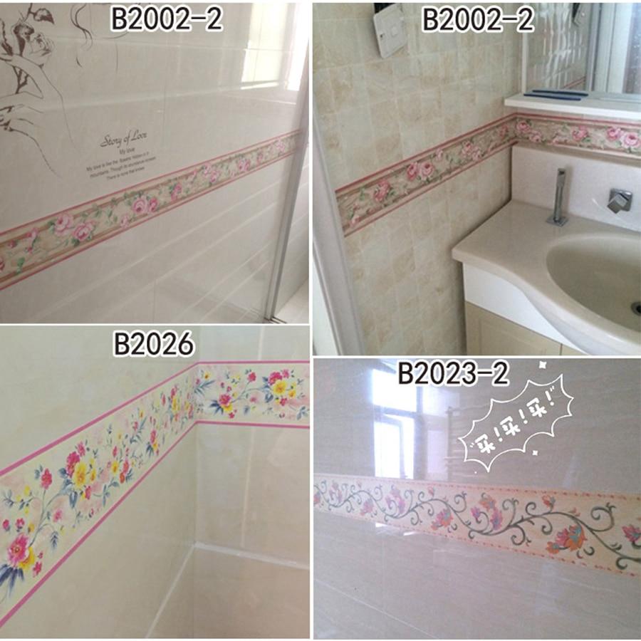 Купить с кэшбэком 10mx0.1m Self Adhesive PVC Wallpaper Mural Removable Vinyl Waterproof Home Decor Modern Living Room Bedroom Tile Wall Sticker