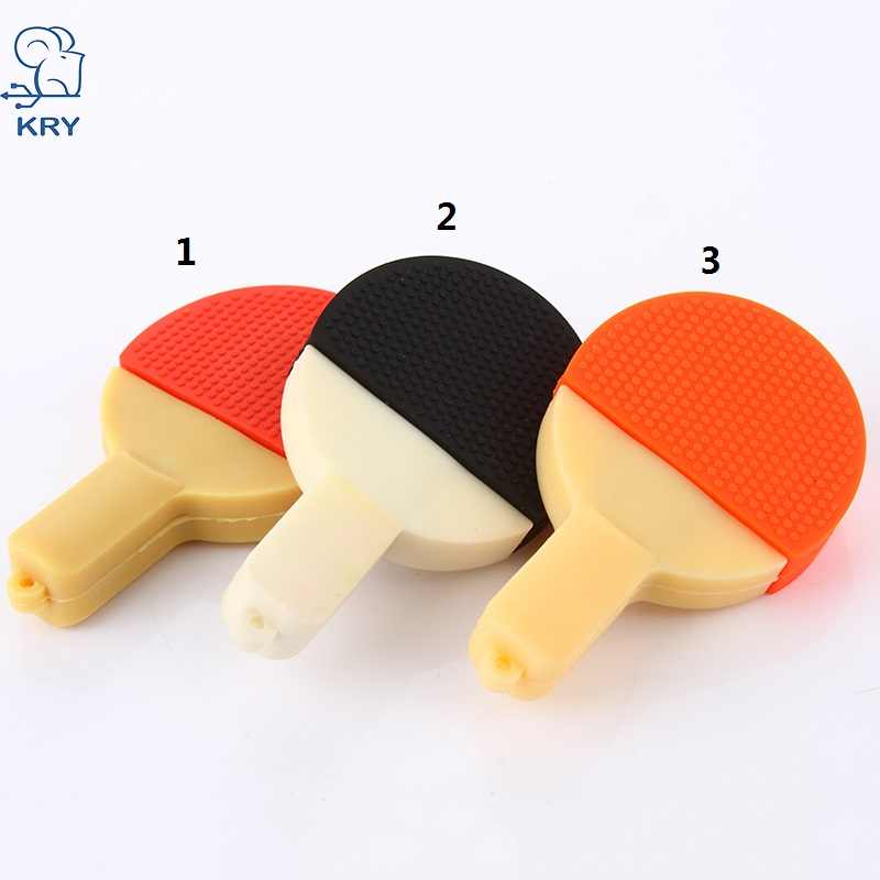 cute mini cartoon table tennis racket 2.0 flash drive USB 4GB 8GB 16GB 32GB 64GB memory stick memory card U disk fashion gift