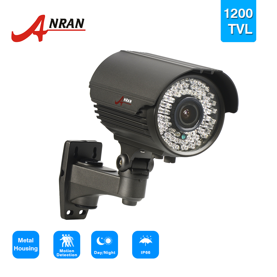 ANRAN 1/2.5'' 1200TVL Sony CMOS 78 IR Infrared Day Night Outdoor Waterproof Security CCTV Camera 2.8-12mm Zoom Lens hot new produc waterproof cmos 1200tvl analog camera ir led day