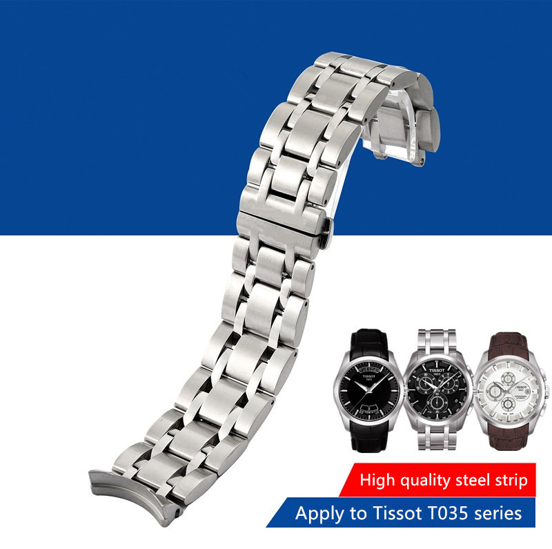 Durable Stainless Steel Wrist Bracelet for 1853 T035 T035617 T035439 T035407 T035627A Watch Band Man 22/23/24mm +INSTALL TOOLS stylish 8 led blue light digit stainless steel bracelet wrist watch black 1 cr2016