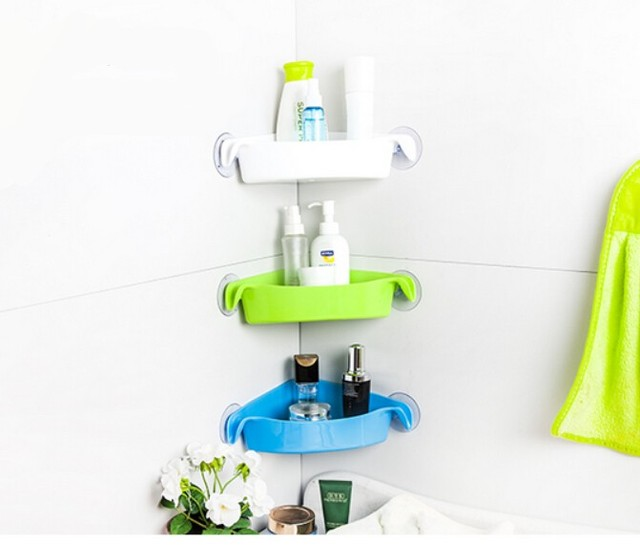 Attractive Bathroom Wall Mounted Corner Bracket Corner Shelf Storage Rack