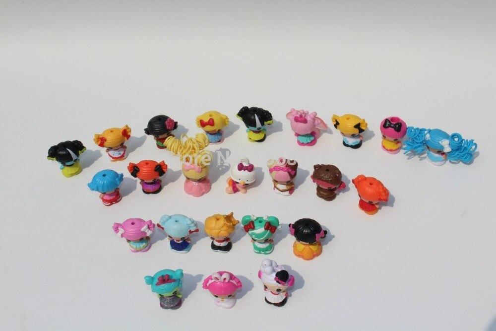 Lot 10Pcs Lalaloopsy MGA Dolls Mini Figure Cute Doll cake topper Toys Random