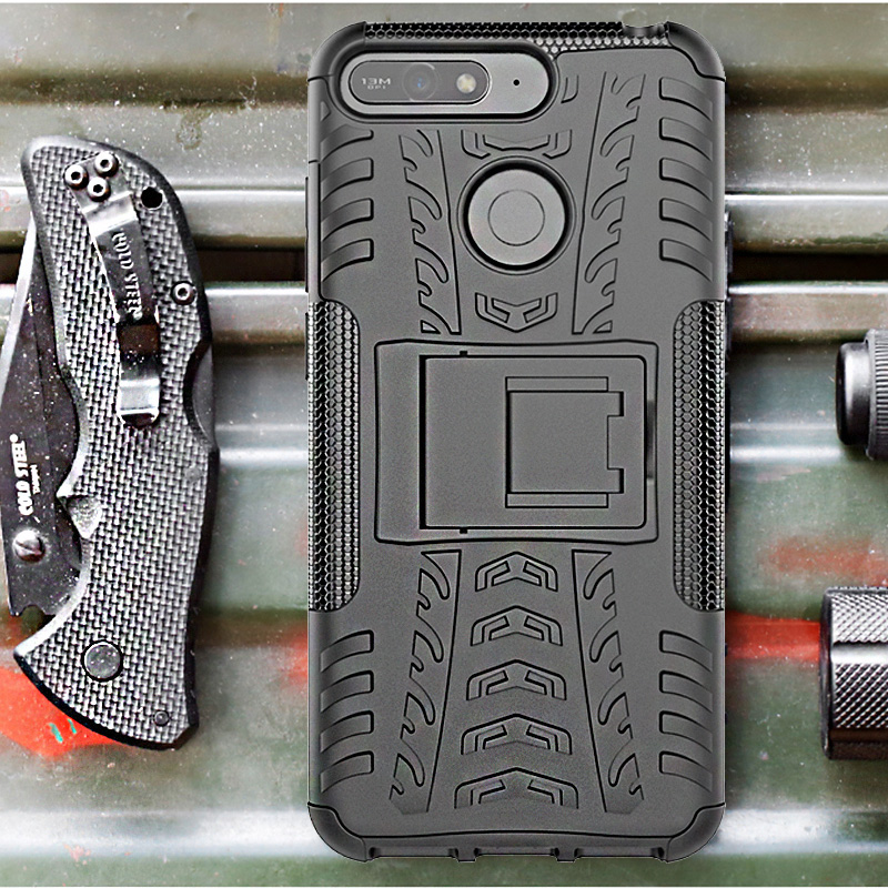 finest selection dcdea b5f0a US $3.99  For Huawei Y6 2018 Case ShockProof TPU+PC Armor Silicone Rubber  For Huawei Y6 Prime 2018 Y 6 Case Back Cover Coque Etui Funda-in Fitted ...