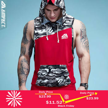 21d15602 Aimpact Gymi Sleeveless Hoodies for Men Camo Cotton Crossfit Fitness  Workout Tank Top Bodybuilding Weight Lift Muscle Shirts Man