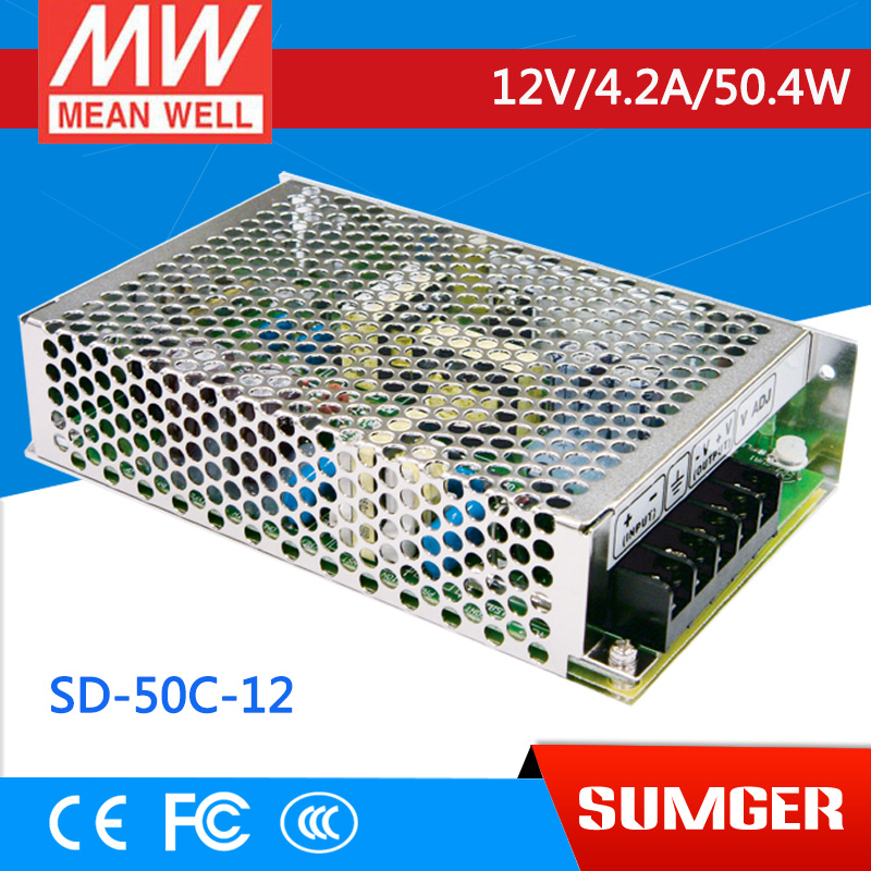 ФОТО [Freeshiping 1Pcs] MEAN WELL original SD-50C-12 12V 4.2A meanwell SD-50 12V 50.4W Single Output DC-DC Converter