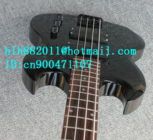 free shipping new Big John electric bass guitar in black with mahogany body made in China  LL29