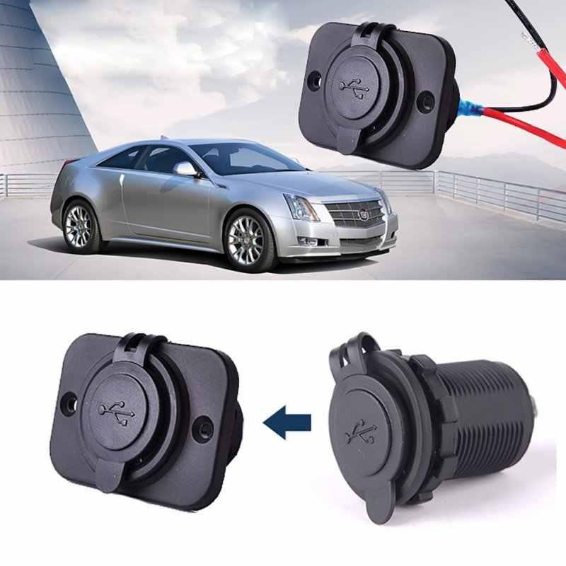 12V Car Universal Waterproof Dual 2 USB Car Cigarettes Lighter Socket Splitter Charger Power Adapter Outlet 3.6cmX5cm New