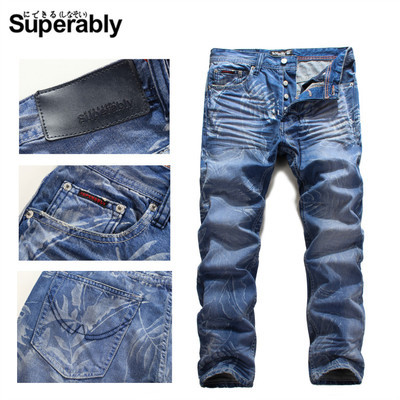 autumn and winter blue jeans men's clothing popular personality male straight long trousers denim afs jeep autumn jeans mens straight denim trousers loose plus size 42 cowboy jeans male man clothing men casual botton