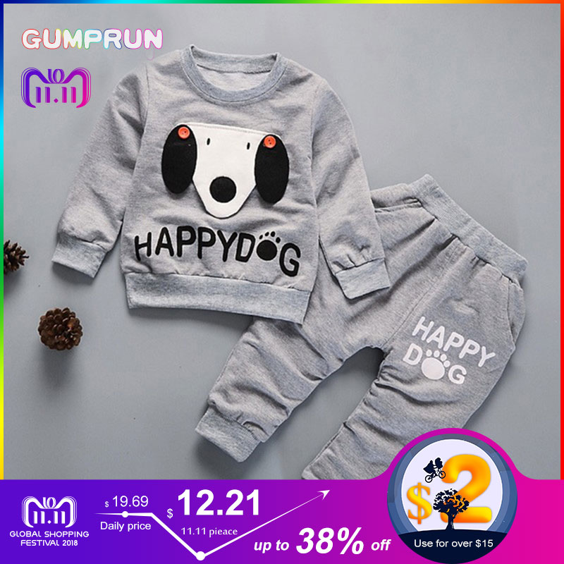 fashion Kids Winter Clothes Happy Dog Print boys clothes long sleeve Children Clothing set warm Girl Winter Clothes For Kids kids winter clothes floral print long sleeve t shirt set comfortable warm boys children clothing girl winter clothes for kids