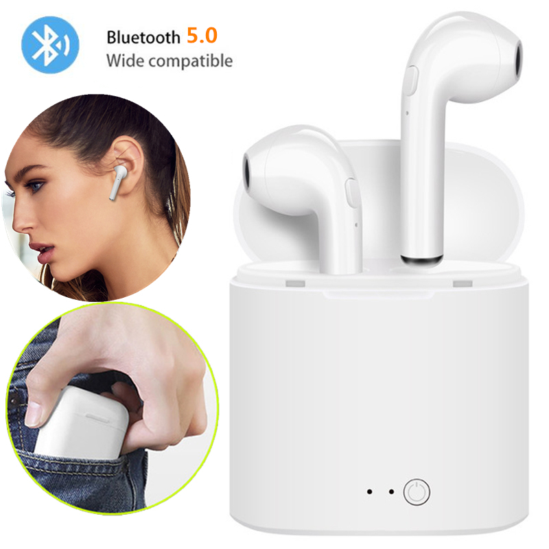 Wireless Bluetooth Earphone i7s TWS Inear Stereo Earbud Headset With Charging Box Mic For Iphone Xiaomi All Smart Phone air pods(China)