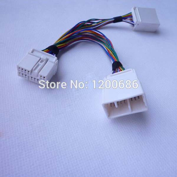 car cd changer harness changer splitter 14pin y cable adapter for honda crv  civic acura rl mdx goldwing