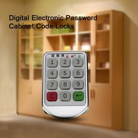 Free Shipping Silver Metal Digital Electronic Password Keypad Number Cabinet Code Locks Intelligent Cabinet Lock