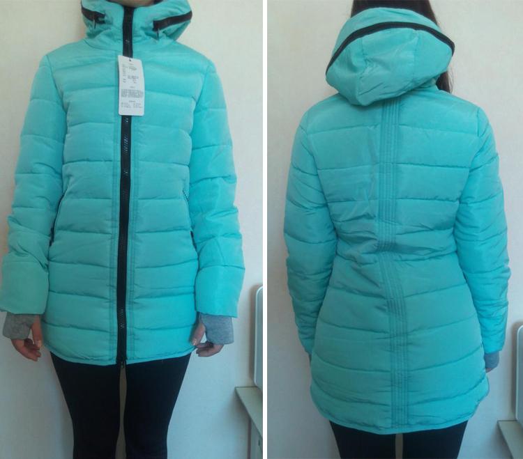 Mark 女性の冬フード付き暖かいコートスリムプラスサイズキャンディーカラー綿パッド入り基本ジャケット女性の中 Chu 2019 9