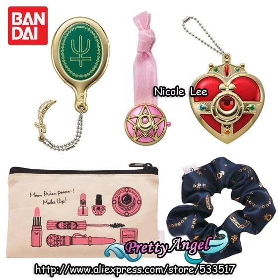 Original Bandai Sailor Moon Crystal Capsule Goods Part.2 Gashapon Figure sailor moon disguise and transformation pen mascot charm gashapon set of 5 100% original