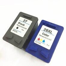 1set of Ink Cartridges For HP 27 28 DJ 3320/3323/3325/3420/3425/3550/3650