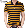 Brand clothing New Men Polo Shirt Men Business & Casual Stripe male polo shirt Short Sleeve breathable polo shirt