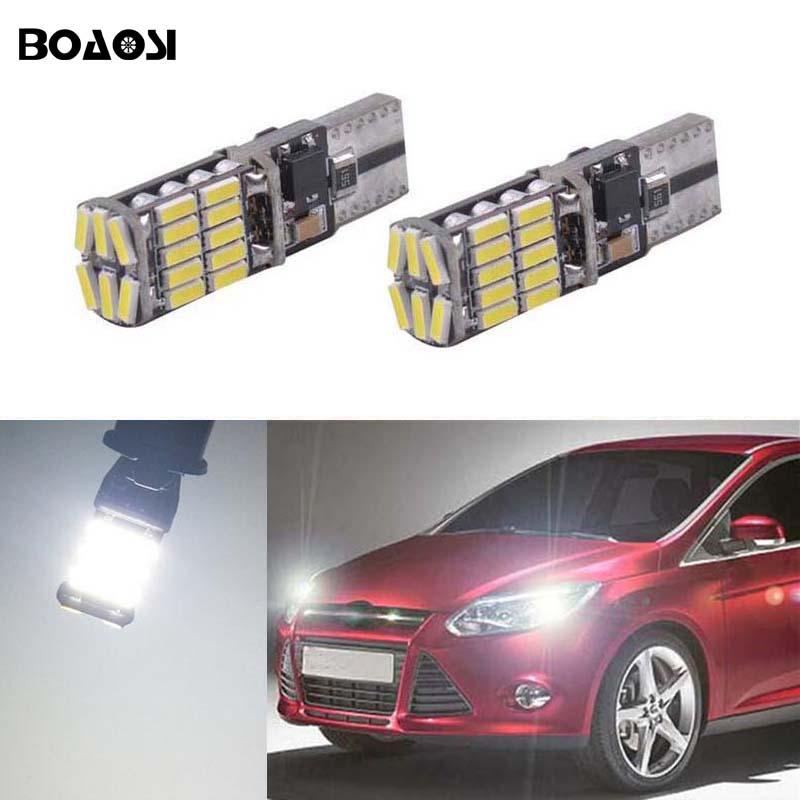 >2x T10 W5W LED Wedge Light Marker Lamps Bulb For Ford <font><b>Focus</b></font> <font><b>2</b></font> <font><b>1</b></font> Fiesta Mondeo 4 3 Transit Fusion Kuga Ranger Mustang KA S-max