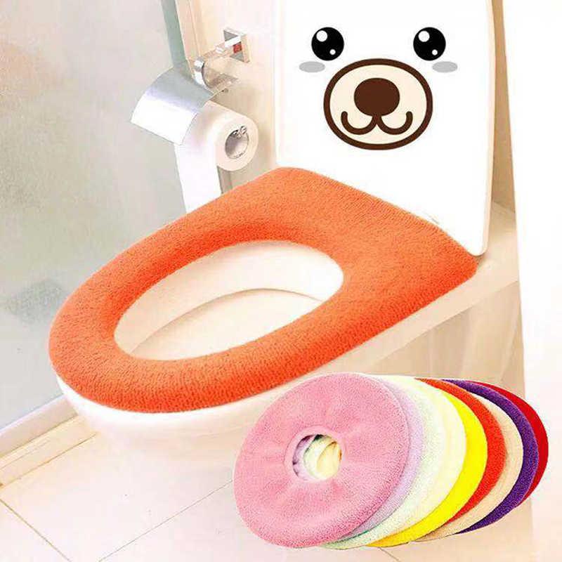 변기 커버 매트 따뜻한 부드러운 화장실 커버 좌석 뚜껑 욕실 Closestool 수호자 욕실 액세서리 세트