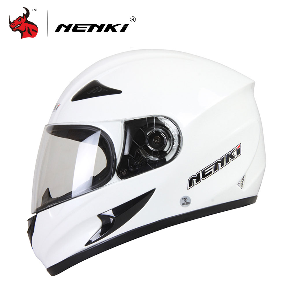 NENKI Black Frosted Men's Full Face Motocross Helmet Strong Resistance To Impact Of Off-road Helmets Motorcycle Helmet pair of safety adjustable high impact resistance outdoor kneepad