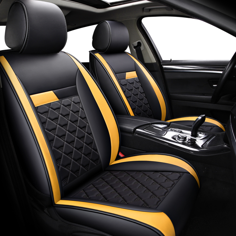 (Front+Rear)Automobiles Leather Car Seat Cover For Audi