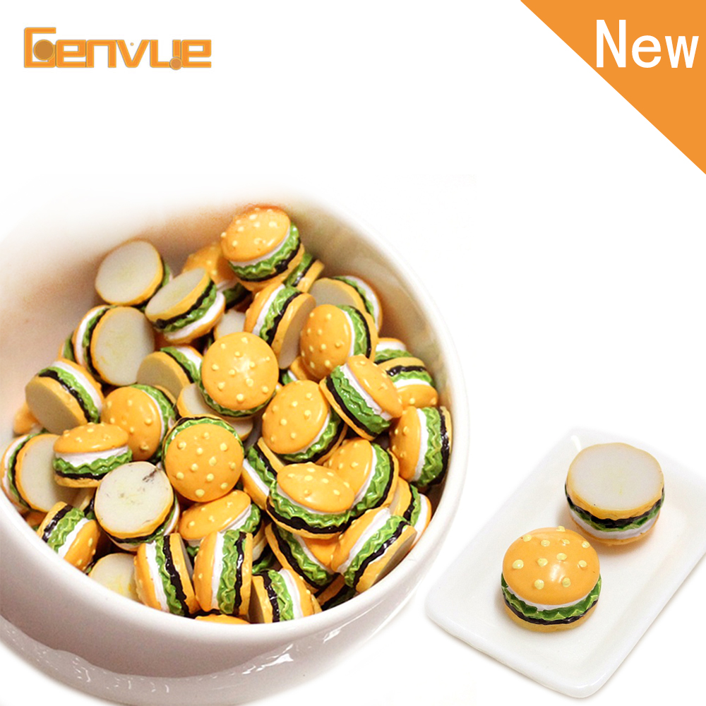 Mini Hamburger Addition For Slime Bead Supplement Charms For Slime Supplies DIY Polymer Filler AccessoriesToys Lizun Modeling