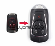 Keyecu New Modify Smart Remote Key Shell 4 Button FOB for Chevrolet Cruze