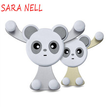SARA NELL Universal Cartoon Car Mobile Phone Holder Air Vent Mount Outlet Gravity Stand Mini Panda Bracket For iphone HUAWEI