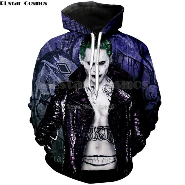 PLstar Cosmos hip hop sweatshirt streetwear 3d harajuku print clothes women tops Evil villain fashion casual free ship blouses