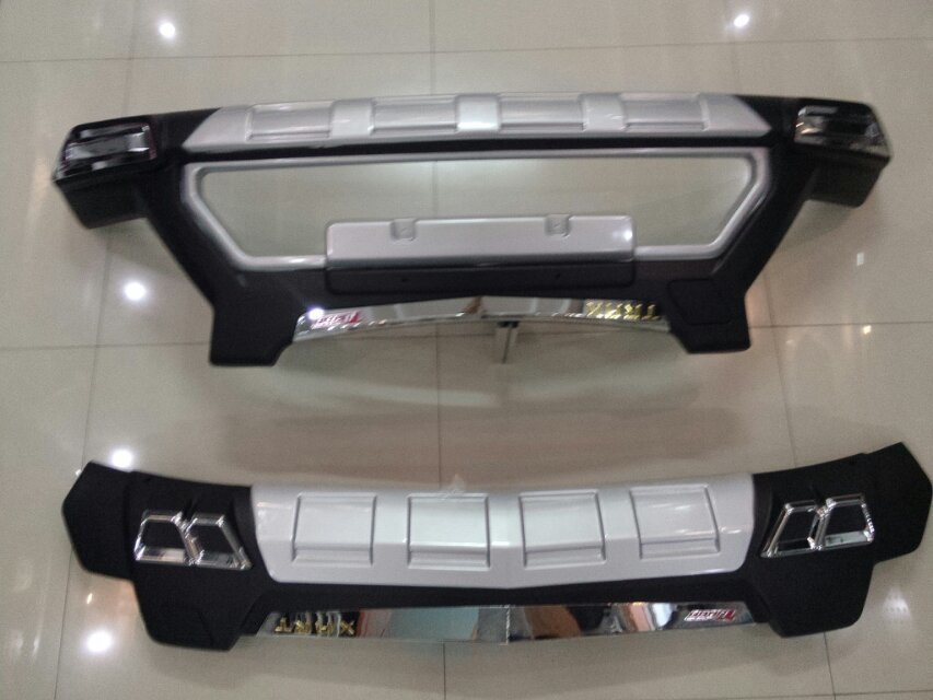 car covers ABS Front+Rear Bumpers Car Accessories Car Bumper Protector Guard Skid Plate fit for Chevrolet Trax 2014 2016