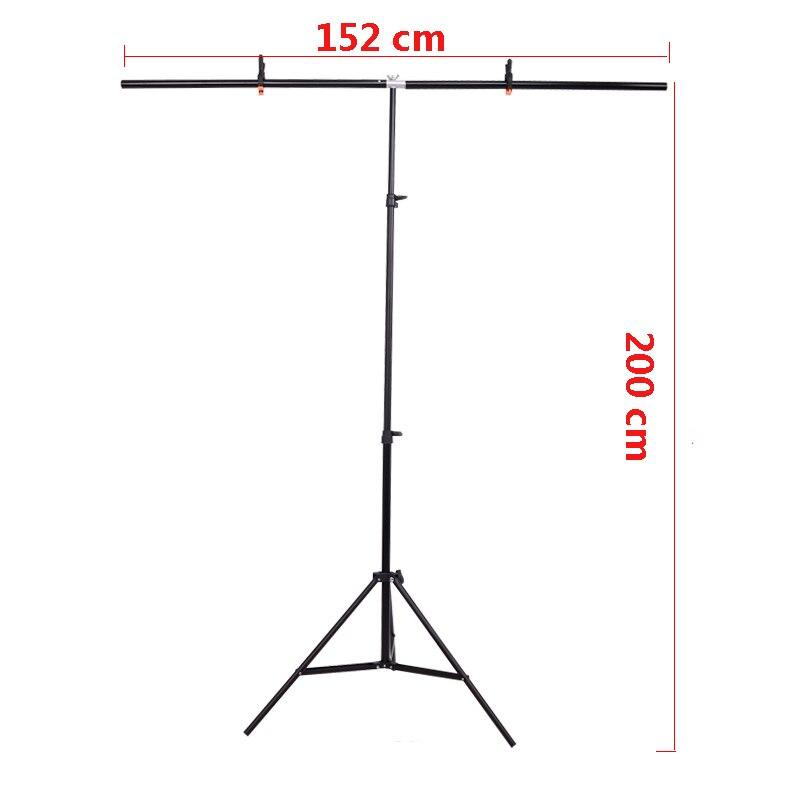 Telón de fondo de foto de envío gratis soporte de fondo de estudio de foto soporte de fondo de PVC grande con 3 abrazaderas 152 cm X 200 cm