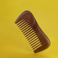 2017 New High Grade Fine Whole Wood Wide Tooth Hairdressing Small Comb Natural Green Sandalwood Comb