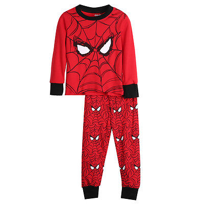 New Kids Baby Boy Spiderman Top Pant Sleepwear Pajamas Nightwear Pjs Clothes Set ...
