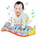 Novo Brinquedo Do Bebê de Piano Criança Mat Toque Pontapé Jogar Fun aprendizagem Educação Toy Peixe Animal Do Chocalho Do Bebê Musical Mat Livre ShippingHT3136