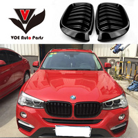 F25 F26 Gloss Black ABS Plastic Auto Car 2 line Front Racing Grill Grille for BMW F25 X3 BMW F26 X4 2014 2015 2016 2017 2018
