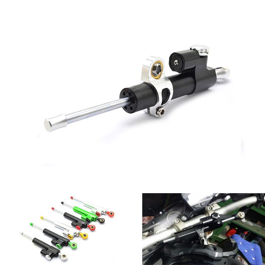 motorcycle CNC Damper Steering StabilizerLinear Reversed Safety Control Over for z800 z750 yamaha r6 mt07 fz6 r3 ninja 300 mt 09