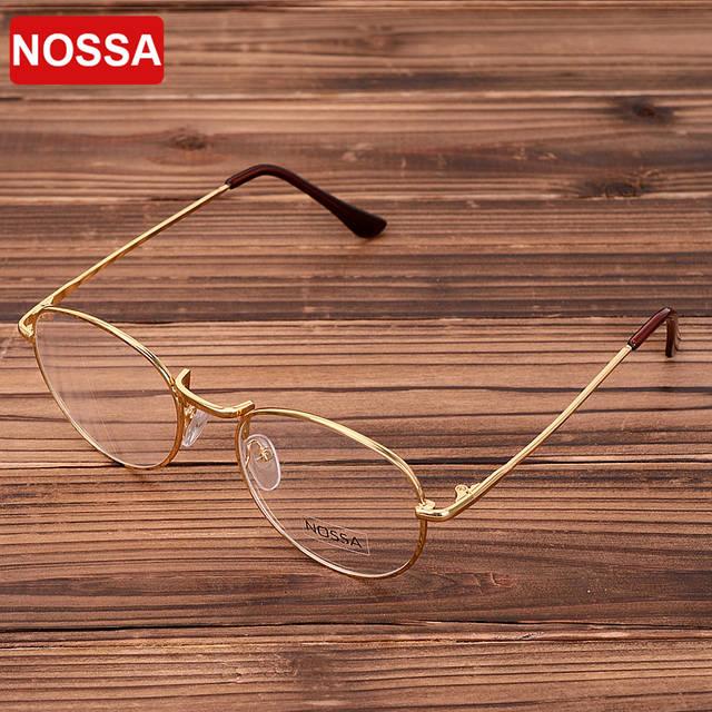 Óculos de Armação Mulheres Homens Rodada Retro Óculos de Metal Do ouro Do  Vintage Bronze Quadro 17ea1c5ead