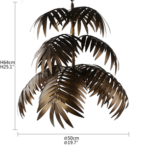 Image 2 - Industrial art deco coconut tree pendant light LED E27 modern loft hanging lamp for living room restaurant bedroom lobby hotel