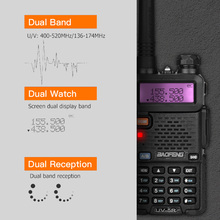 BAOFENG UV-5R Walkie Talkie Professional CB Radio Portable Walkie Talkie Transceiver 10 km VHF UHF Handheld UV For Hunting Radio