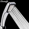 Hot Bathroom Handheld Shower Head 300 Hole Water Saving Square abs Rainfall Shower Head Water Saving High Pressure Set ZJ093
