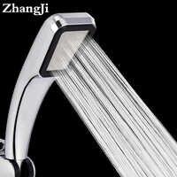 Zhangji banheiro quente handheld cabeça de chuveiro 300 buraco de poupança água quadrado abs de alta pressão de poupança de água da precipitação cabeça de chuveiro