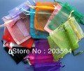PP001 Wholsale 1000pcs 20color Organza Wedding Gift Luxury Organza Wedding Favor Xmas Gift Bags Jewellery Pouches 9*12cm