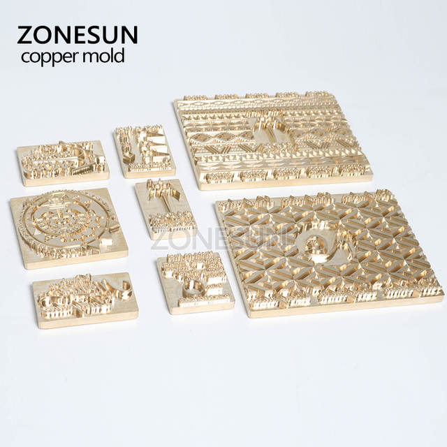 ZONESUN Embossing Leather Mold Wood Custom Logo Metal Stamp Heat Press Tool  Branding iron Emboss Mould