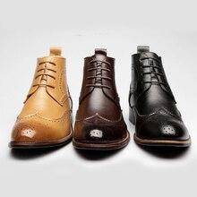 D'hiver De Mode de Chaussures Pour Hommes Populaires Hommes Plat Cuir Robe Hommes Bottes Ascenseur Faible Talon Bout Pointu Mâle Martin bottes