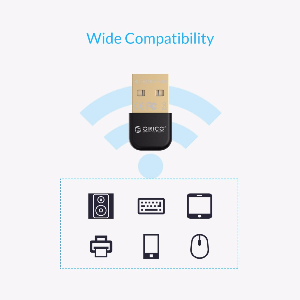 Image 4 - ORICO Mini USB Bluetooth Adapter V4.0 Dual Mode Wireless Bluetooth Dongle 4.0 Bluetooth Transmitter for Windows10 32/64-in USB Bluetooth Adapters/Dongles from Computer & Office
