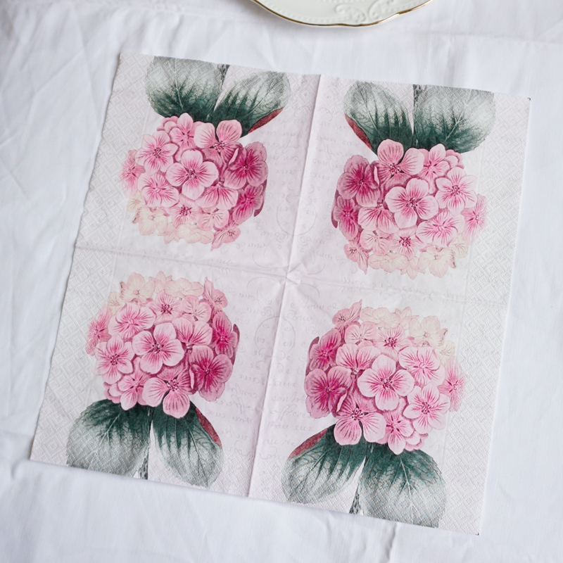 4 x Single Vintage Table Paper Napkins Craft for Decoupage FEAST