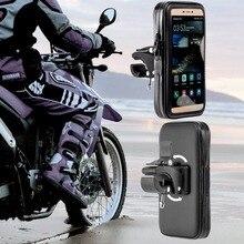 360 Roterende Waterdichte Tas Motorfiets Telefoon Houder Stand Clip Mount Ondersteuning Voor Iphonex 8 7Plus 6 S9 S8 Plus soporte Movil Moto