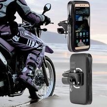 360 girando à prova dwaterproof água saco do telefone da motocicleta suporte clipe de montagem suporte para iphonex 8 7plus 6 s9 s8 mais soporte movil moto